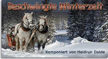 Beschwingte Winterzeit - Komposition von Heidrun Dolde
