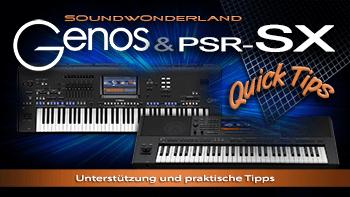 Video Unterstützung für Yamaha Genos,  PSR-SX900 und PSR-SX700