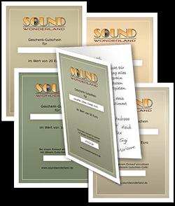 Soundwonderland Geschenk-Gutscheine