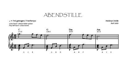 Noten-Vorschau Abendstille Heidrun Dolde - Violinschlüssel-Version