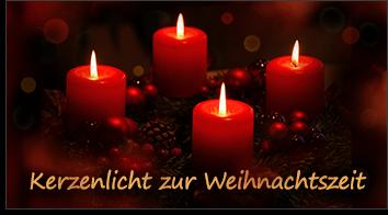 Kerzenlicht zur Weihnachtszeit