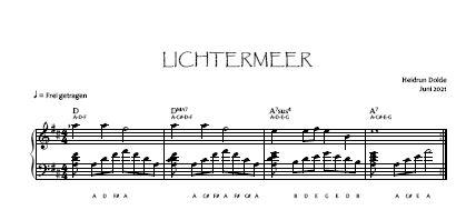 Noten-Vorschau Lichtermeer Heidrun Dolde - Bassschlüssel-Version