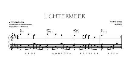 Noten-Vorschau Lichtermeer Heidrun Dolde - Violinschlüssel-Version