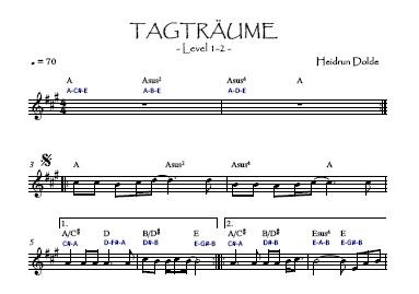 Noten-Vorschau  Tagträume Komposition Level 1-2