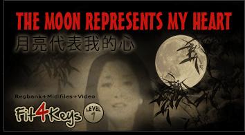 Produktbild Fit4Keys - The Moon Represents My Heart