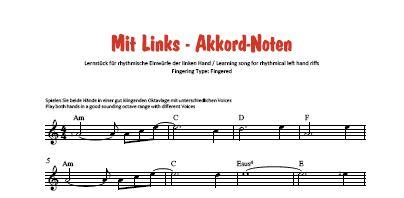 Noten-Vorschau - Einfache Notation