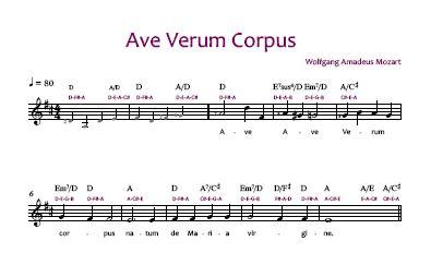 Ave Verum Corpus - Noten Vorschau